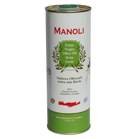 MANOLI Extra natives Olivenöl aus Kreta (500ml Dose)